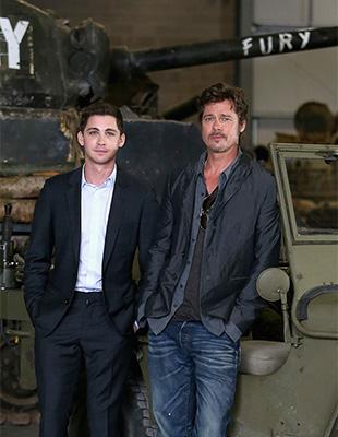 Брэд Питт и «Ярость» в Музее танков