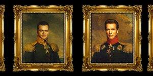 Актёры стилизованные под российских генералов