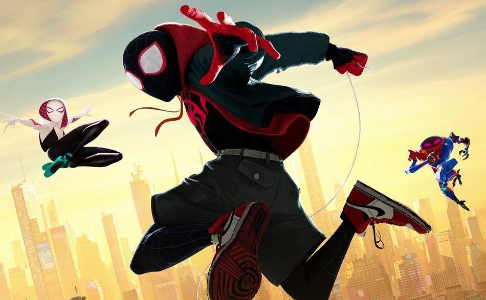 фрагмент постера к мультфильму «Человек-паук: Через вселенные»
