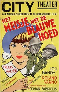 Постер Het meisje met den blauwen hoed