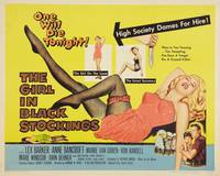 Постер The Girl in Black Stockings