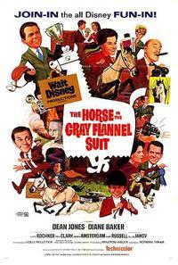 Постер Лошадь во фланелевом сером костюме