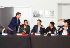 Первое фото: взрослый актерский состав второй главы хоррора «Оно»