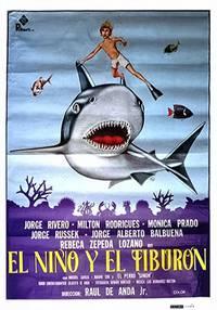 Постер Мальчик и акула