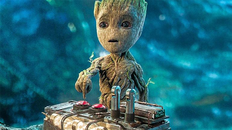 """малыш Грут в """"Стражах галактики 2"""""""