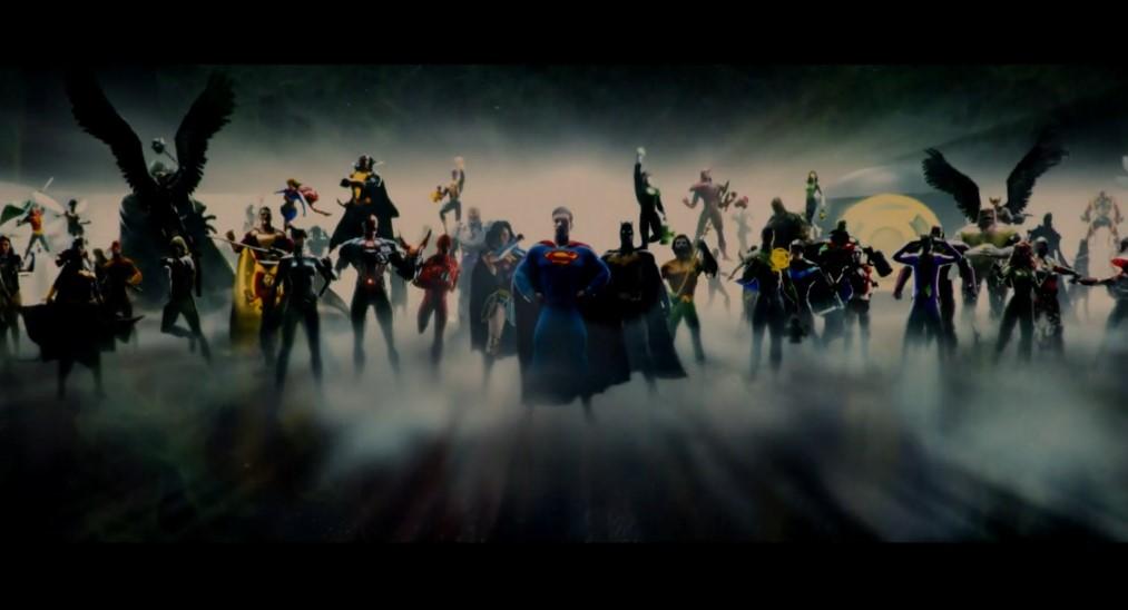заставка к фильмам расширенной киновселенной DC