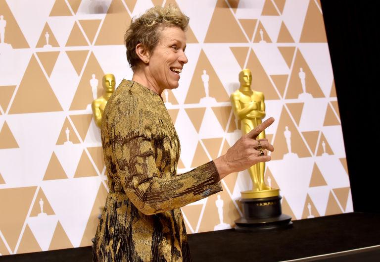 """Фрэнсис МакДорманд на церемонии """"Оскар"""""""