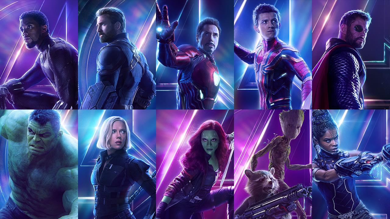"""Характер-постеры фильма """"Мстители: Война бесконечности"""""""