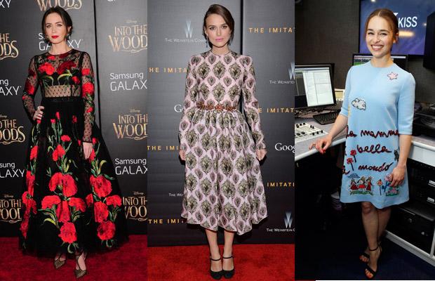 Актрисы в платьях Dolce&Gabbana