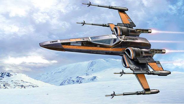 истребитель X-Wing T70, принадлежащий По Дамерону, концепт-арт