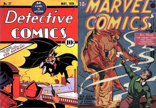 первый комикс с Бэтменом и раний комикс Марвел