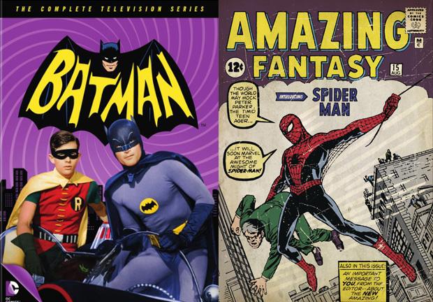 сериал о Бэтмене 1966 года и комикс о Человеке-пауке