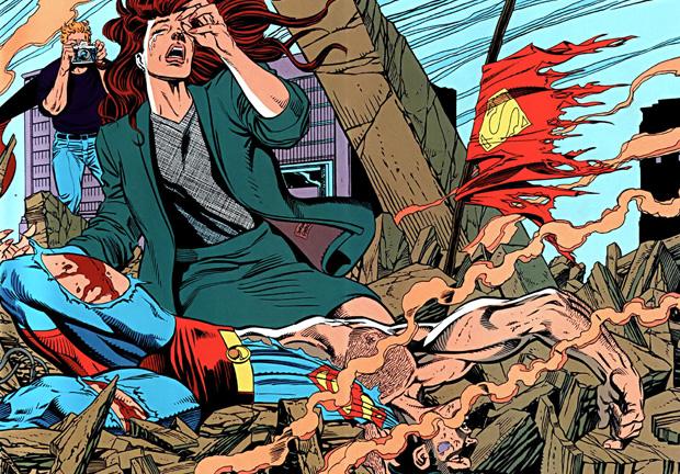 """страница из комикса """"Смерть Супермена"""""""