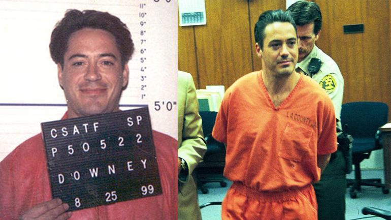 Роберт Дауни-младший под арестом