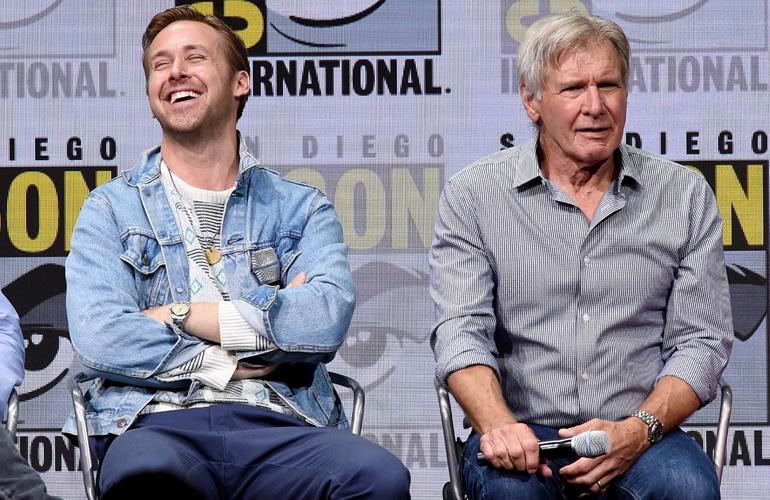 Райан Гослинг и Харрисон Форд на Comic Con 2017