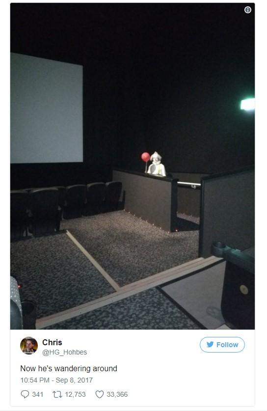 клоун Пеннивайх в британских кинотеатрах