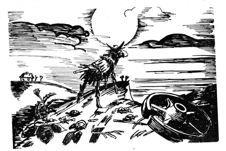 """сохранившийся кадр из """"Сказки про соломенного бычка"""""""