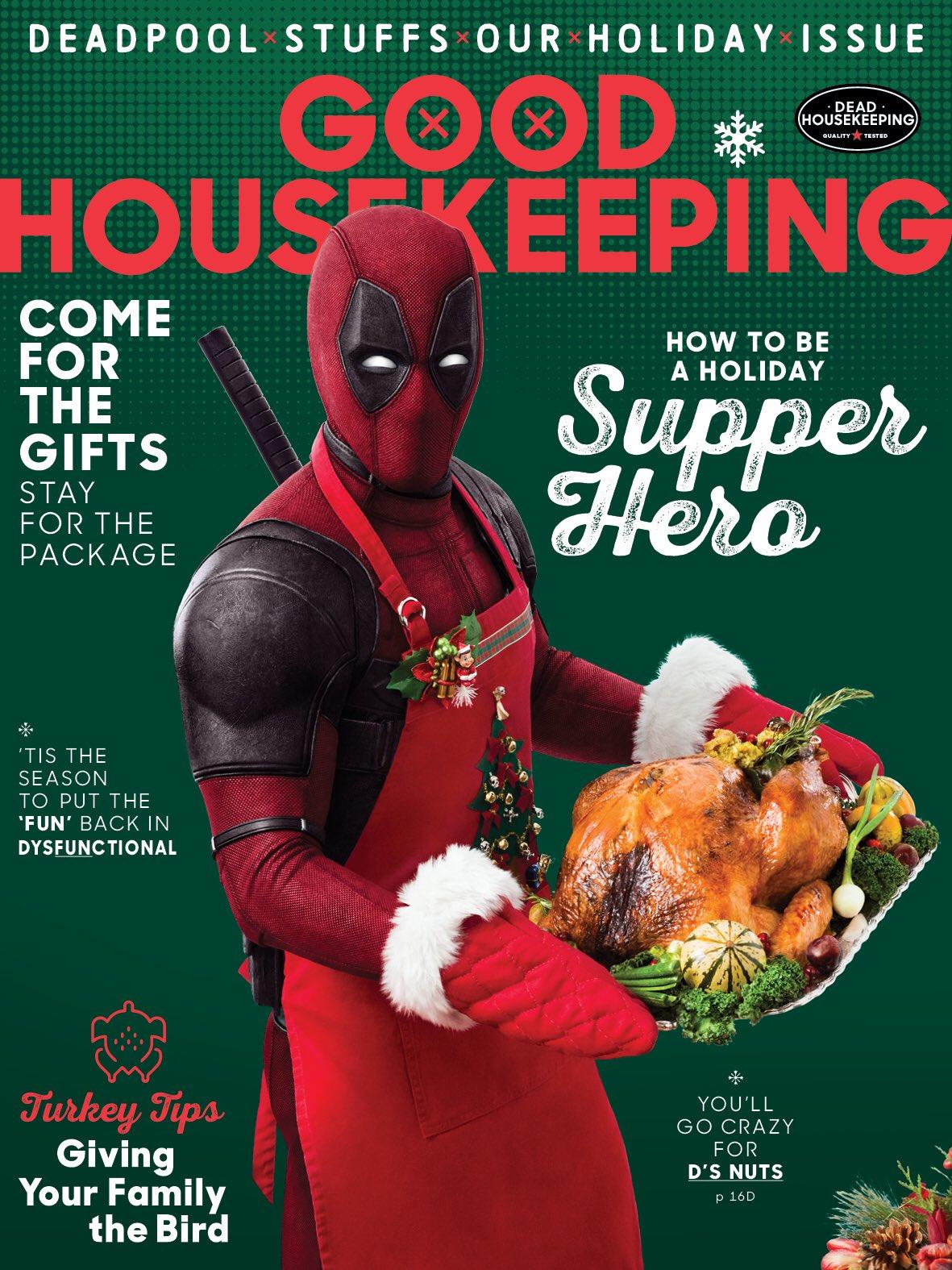 Дэдпул на обложке Good Housekeeping