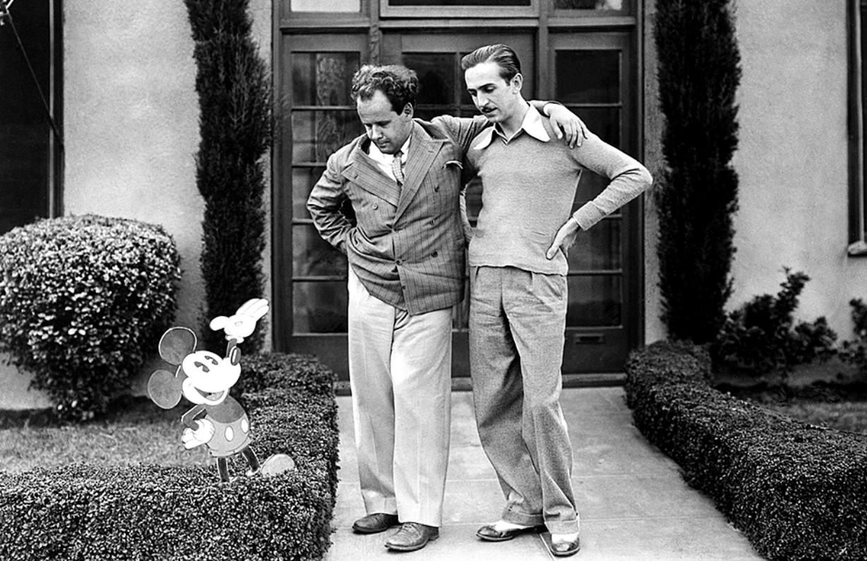Эйзенштейн с Уолтом Диснеем во время поездки в США