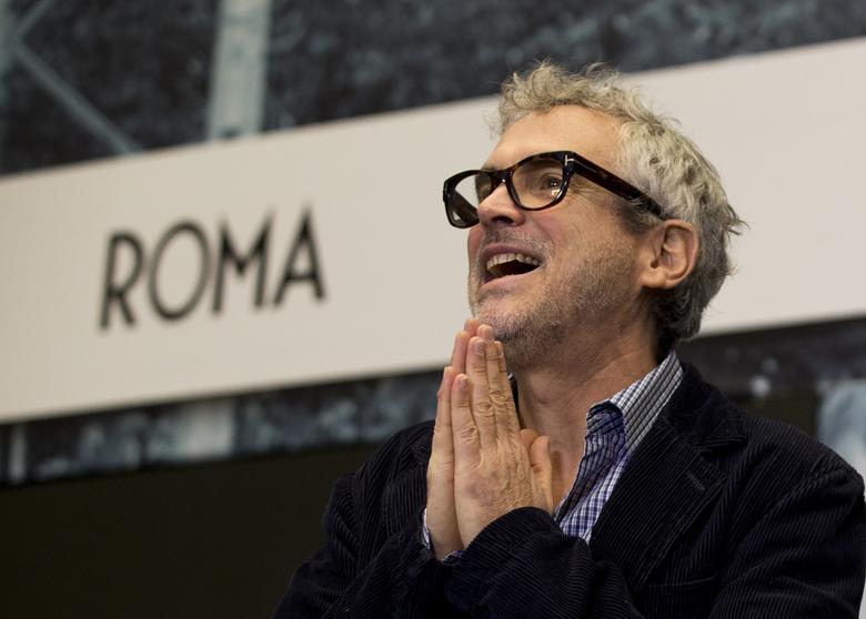"""Альфонсо Куарон на пресс-конференции по случаю окончания съемок """"Рима"""""""