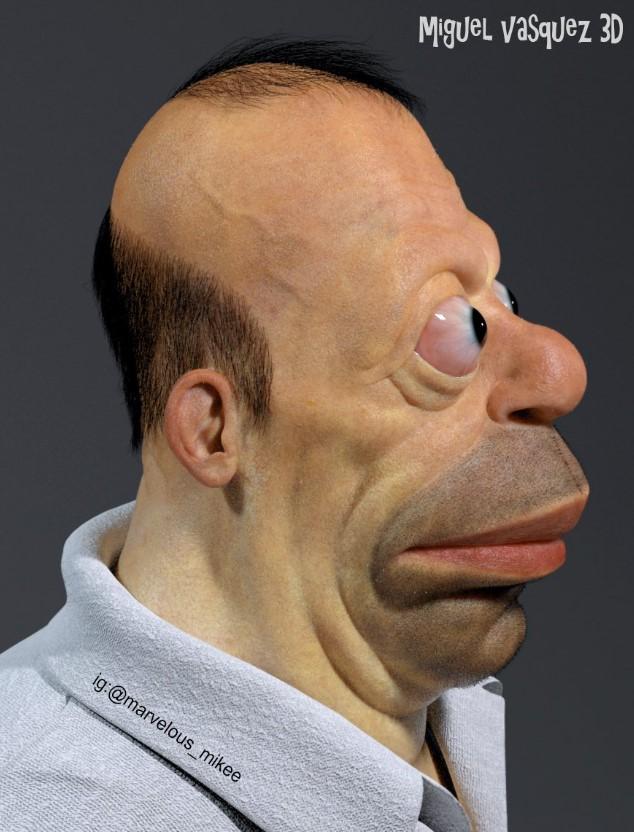 как бы выглядел Гомер Симпсон в реальной жизни