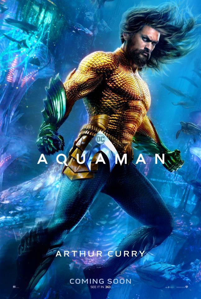 «Аквамен»: опубликованы красочные характер-постеры