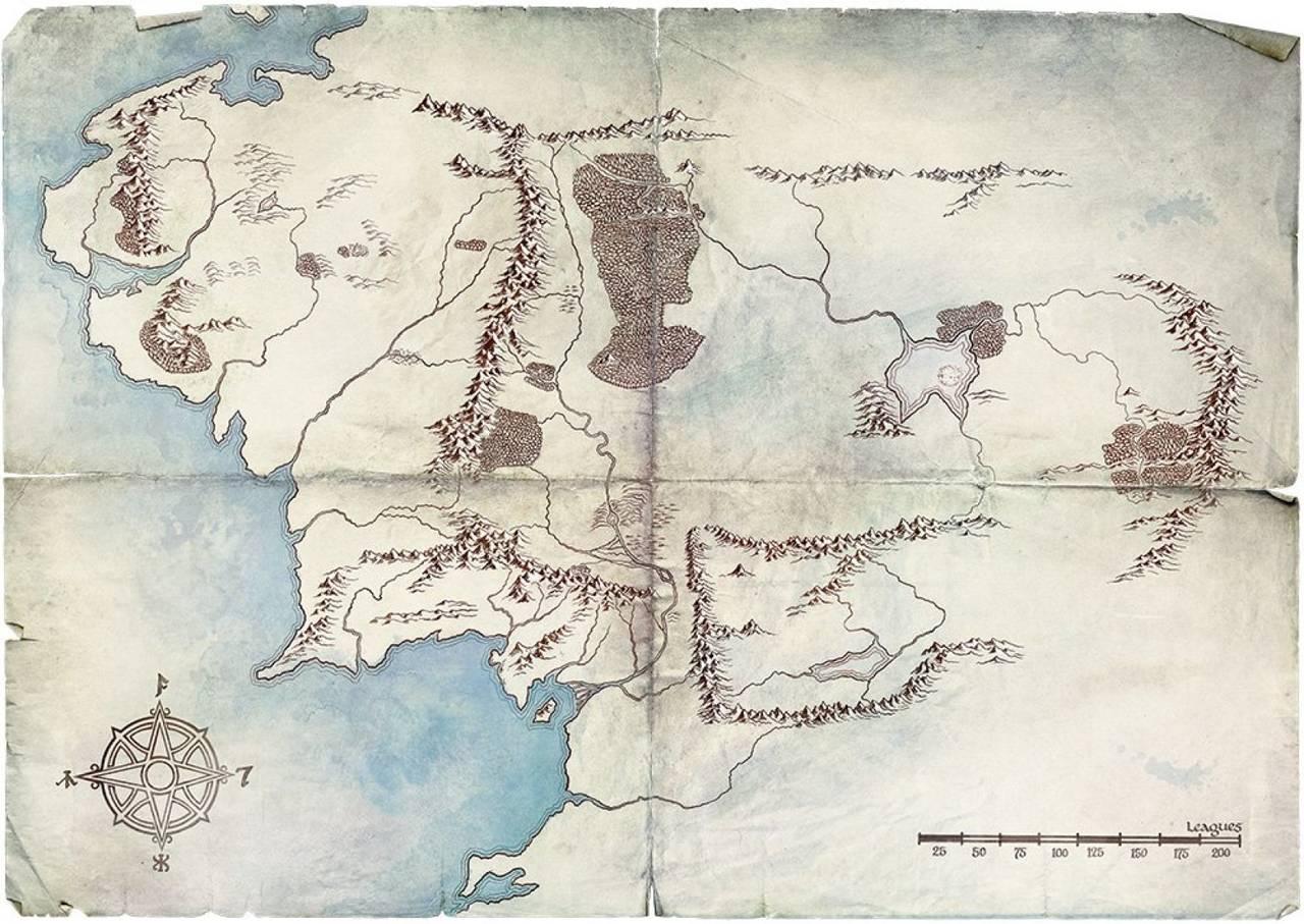 Amazon выложил карту Средиземья в преддверии сериала «Властелин колец»